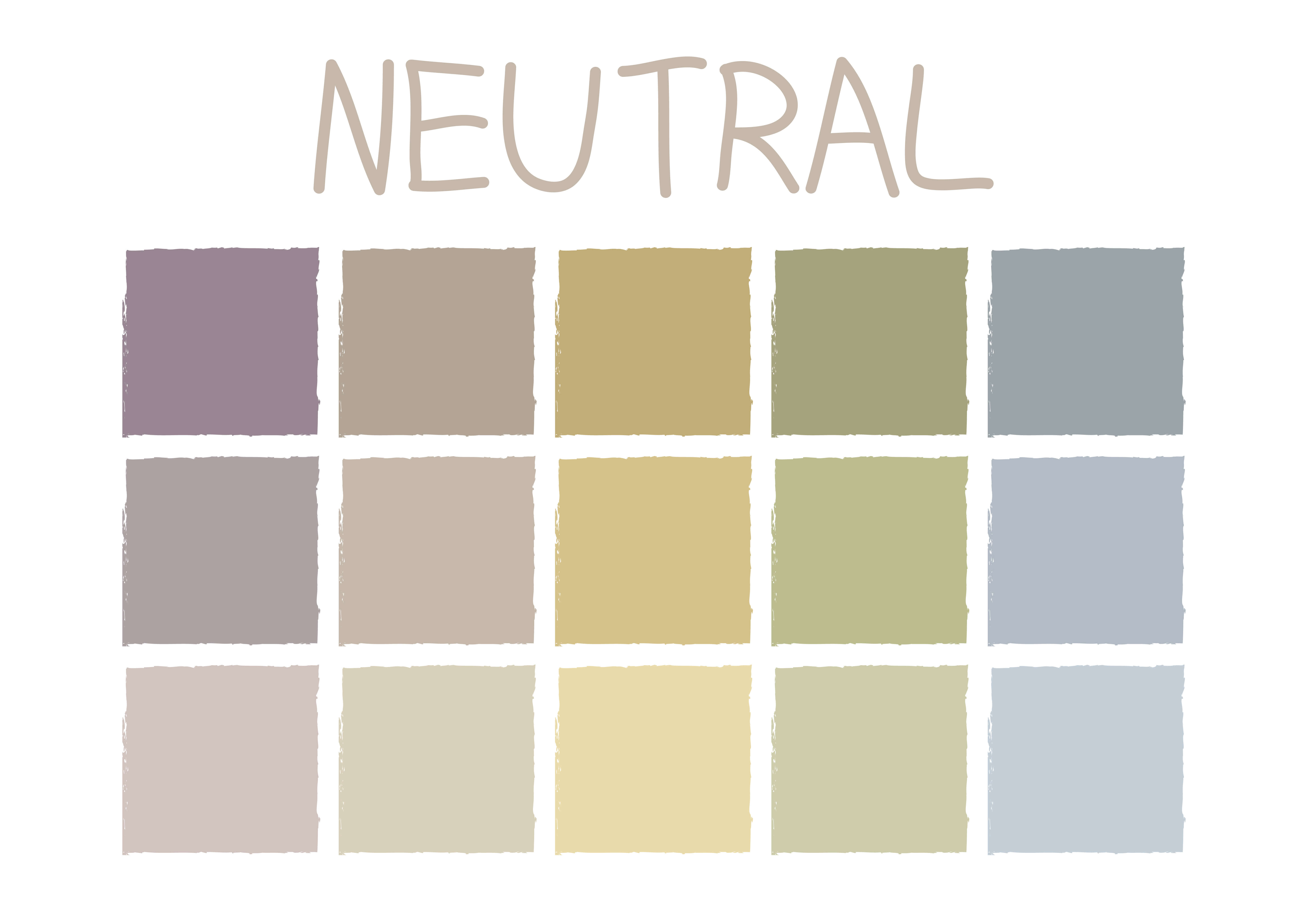 Colour pallet neutral diagram