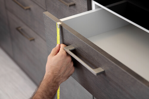 measuring a worktop